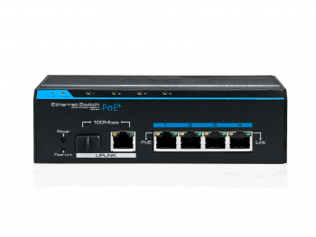 Переключатель Switch OPTIVA PoE FastEthernet, 5 портов FE, 4xPoE/PoE+, 1xSFP VONT-SP1104 OPTIVA2B