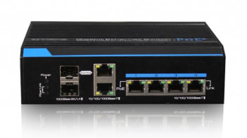 Коммутатор OPTIVA PoE GigabitEthernet, 6 портов GB, 4xPoE / PoE + / HiPoE, 120 Вт / 240 Вт, 2xSFP (1 VONT-SP1504 OPTIVA2B
